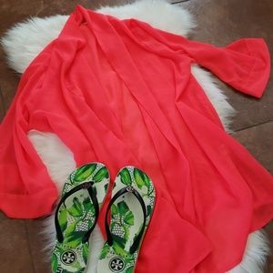 Other - Kimono coverup hot pink new